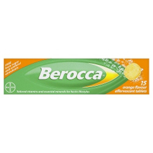 Bayer Berocca Effervescent 15 Tablets