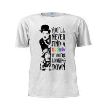 Charlie Chaplin T Shirt You'll Never Find a Rainbow The Little Tramp Shirt Fashion Tee Unisex Trendy Men T Shirt