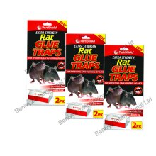 6 X PestShield EXTRA STRENGTH LARGE Rat Sticky Glue Traps Boards