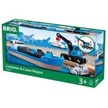 BRIO Harbour Freight Ship and Crane
