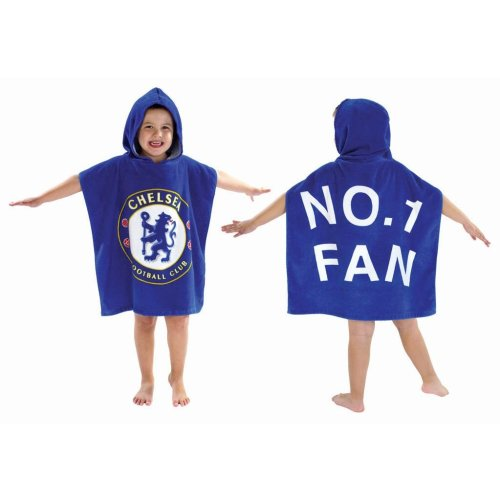 Kids Chelsea Football Club  Hooded Poncho Towel - Official Licenced Product