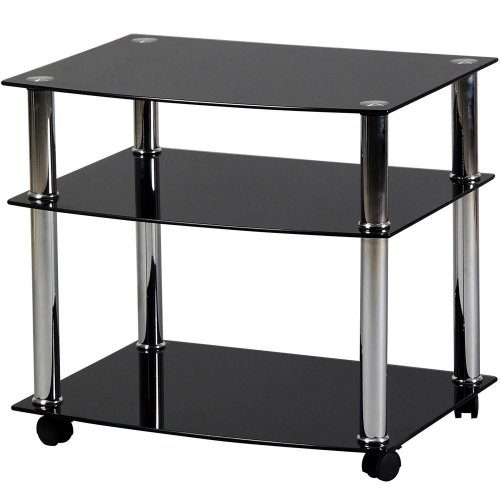 Charles Jacobs Glass Trolley Stand For TV Television Hifi