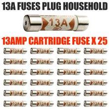 13Amp Domestic Fuses Plug Top Household Mains 13A Cartridge Fuse 25PCS