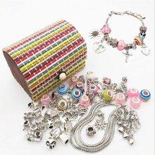 Charm Bracelet Making Set DIY Girls Jewellery Making Kits Kids Nice Gifts Girls