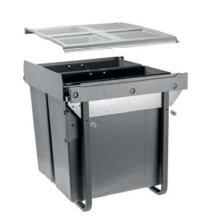 Kitchen waste bin soft close JC609M-2 (529x494x540)