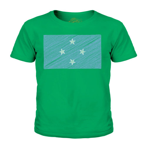 Candymix - Micronesia Scribble Flag - Unisex Kid's T-Shirt