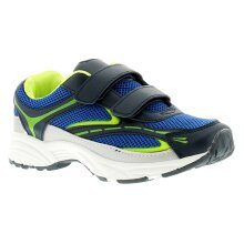 New older Boys Blue touch fastening trainers UK Size