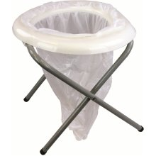 Portable Toilet And Refill Pack -  toilet highlander portable camping white