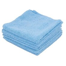 Ettore 84460 13 x 13 in. Blue Microswipe All Purpose Cloths, Pack of 6