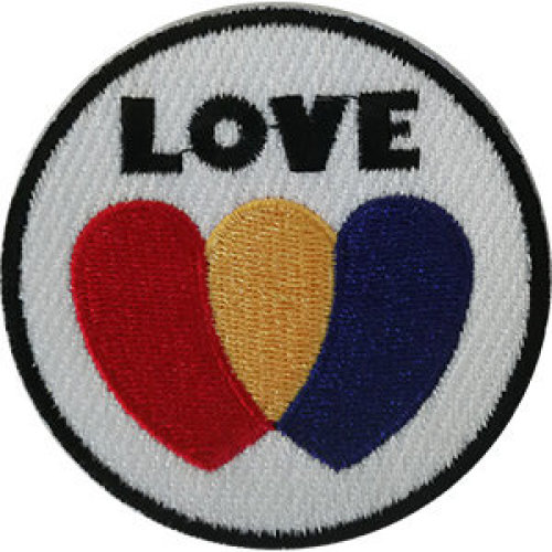 Patch - Inspirational - Love Red Yellow Blue Icon-On p-dsx-4861