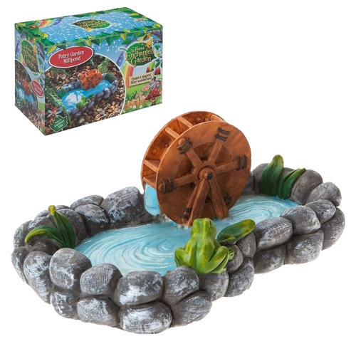 The Fairies Enchanted Garden Range - Fairy Pond with Watermill