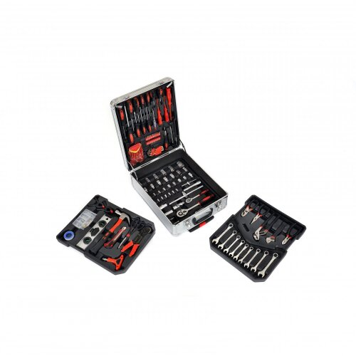 Oypla 718pc Tool Screwdriver Bit Spanner Socket Set Kit with Aluminium Carry Case
