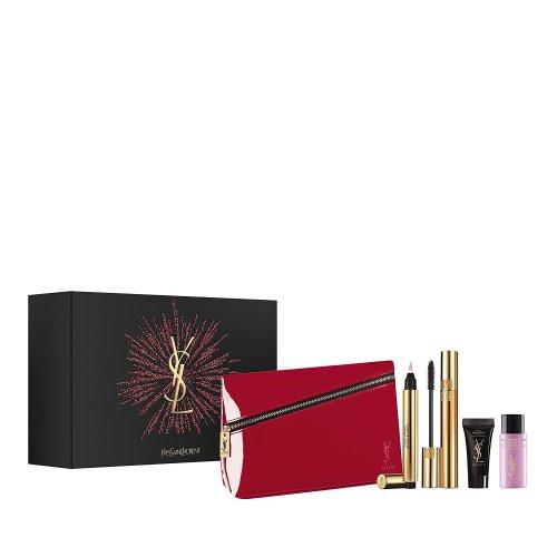 *NEW* YVES SAINT LAURENT Eye Make Up Gift Set YSL Red Bag/Touche Eclat/Mascara