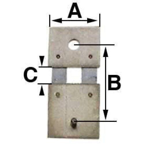 Pendulum Clock Suspension Spring B = 12.5mm (A = 8.0mm & C = 2.5mm) Hermle