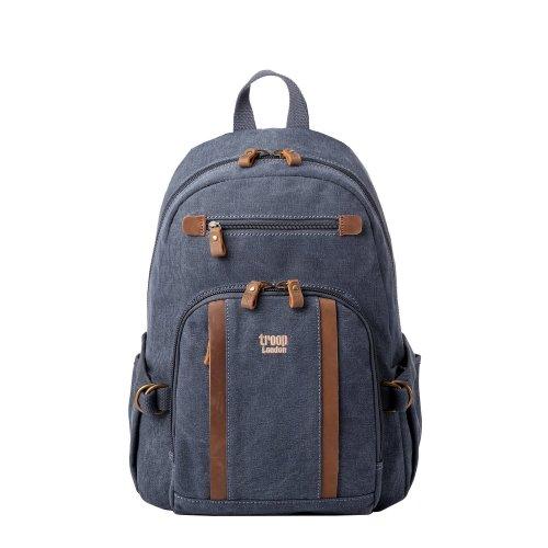 Troop London Classic Medium Canvas Backpack | Buy Bags Online | Canvas Bags | leather canvas backpack