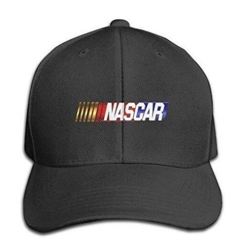 Custom Nascar Adjustable Hunting Peak Hat & Cap Black