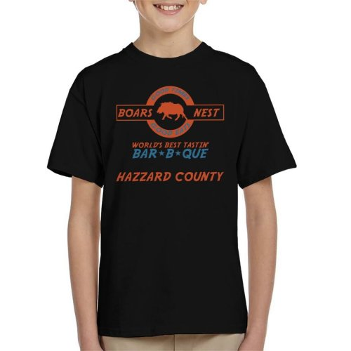 Dukes Of Hazzard Boars Nest Bar B Que Kid's T-Shirt