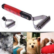 Pet Cat Dog Hair Fur Shedding Trimmer Grooming Dematting Rake Comb Brush Tool