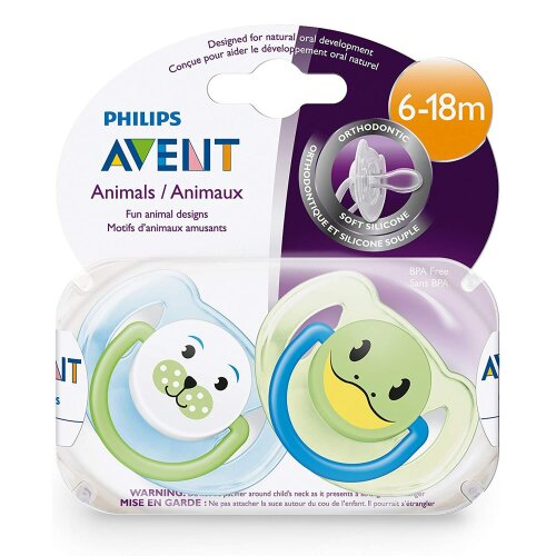 Philips Avent Bpa Free Animal Soothers (6-18 Months) 2 Pack Scf182/34