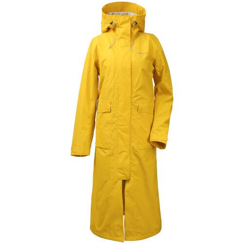 (34 EU (Ladies Size 8 UK), Oat Yellow (321)) Didrikons Sissel Womens Long Length Jacket