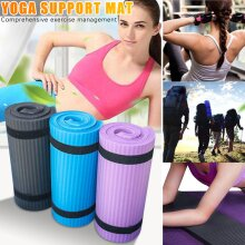10mm Thickened Non-slip Yoga Mats Tear Resistant NBR Fitness Mats Exercise Sports Gym Pilates Pads With Yoga Mat Strap