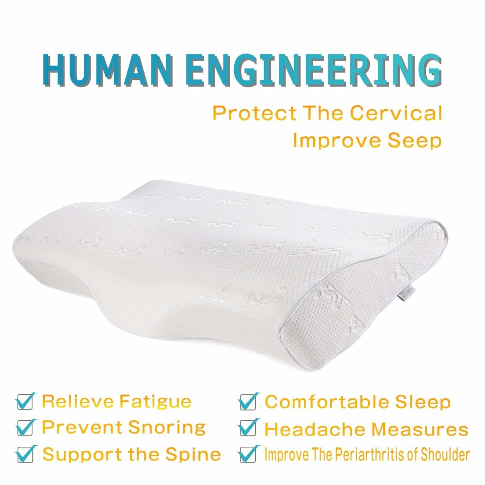 iCoudy® Memory Foam Pillow Contour Neck