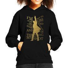 Hamilton Not Throwing Away My Shot Kid's Hooded Sweatshirt
