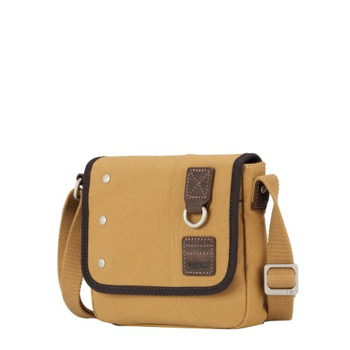 TRP0530 Troop London Heritage Washed Canvas Across Body Bag, Small Crossbody Bag