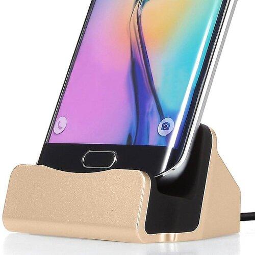 Motorola Moto E6 Plus Micro USB Gold Desktop Charger & Sync Dock