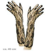 Lace glove long black accessory 40cm Size