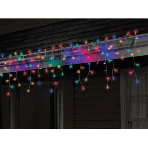 284B4215 LED Twinkle Icicle Light Set  100 Multi-Color