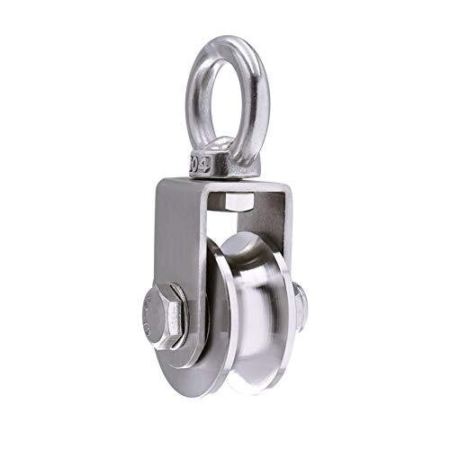 Pulley Wheel with 2 Bearing, Cable Pully Block Heavy Duty for Washing Line/Rope Loading 500kg
