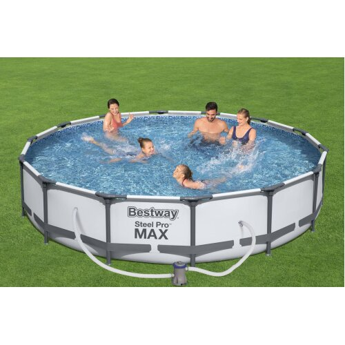 """(14'X33"""") BestWay Steel Pro Frame Swimming Pool Set Round Above Ground With Filter Pump"""
