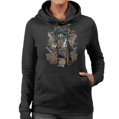 Pirate Treasure Gunslinger Women's Hooded Sweatshirt
