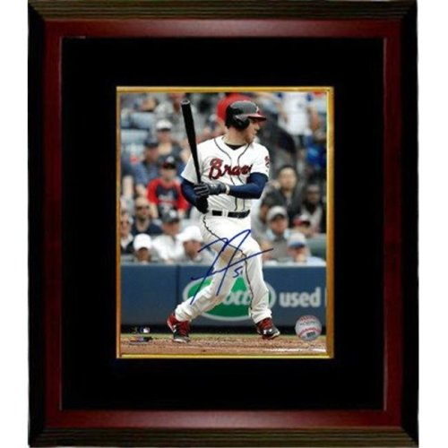 Athlon Sports CTBL-MB22182 Freddie Freeman Signed Atlanta Braves 8 x 10 Photo Custom Framed No.5 - PSA & JSA & BAS Guaranteed to Pass - Swing Through