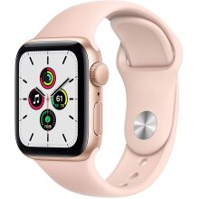 Apple Watch SE Gold Aluminium Case With Pink Sand Sport Band - 40mm