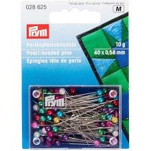 Prym Pearl-Headed Pins Assorted col 0.58 x 40 mm