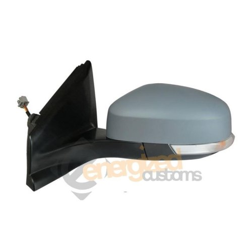 Ford Focus Mk3 2011-2015 Electric Wing Door Mirror Primed Cover Passenger Side