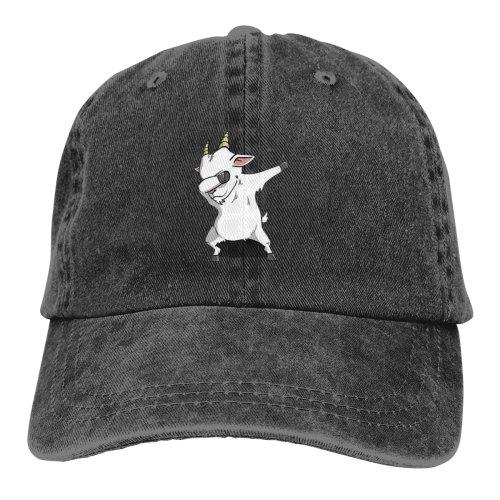 Dabbing Goat Unicorn Denim Baseball Caps