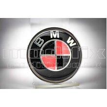 modifix_co_uk BMW CARBON Red Front/ Rear Emblem Bonnet Badge 82mm Genuine Modified