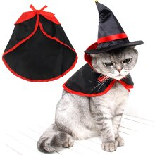 Halloween Pet Cat Dog Vampire Cape Cloak Cosplay Fancy Dress Costume