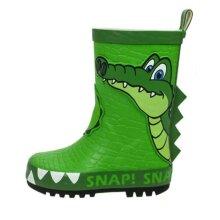 Boys Snappy Croc Green Wellies