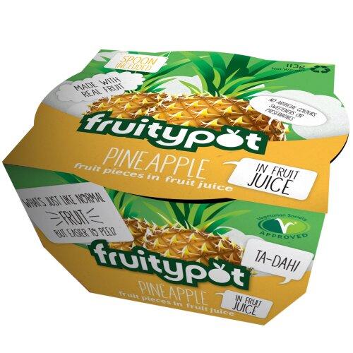Fruitypot Pineapple in Juice Pots - 18x113g