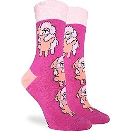 Socks - Good Luck Sock - Women's Crew Socks - Poodles Hugging (5-9) 3224