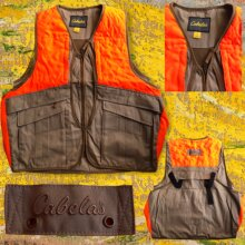 Cabela's Men Vest Hunting Fishing Safety Workwear
