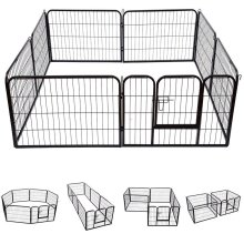 Extra Large Heavy Duty 8 Piece Puppy Dog Run Enclosure Welping Pen