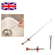 """FLEXIBLE 24"""" SPRING BENDY THIN LONG REACH CLAW PICK UP HAND GRABBER TOOL LIFTING"""