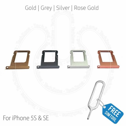 For iPhone 5s iPhone SE Sim Card Holder Tray Slot with Sim Ejector Tool