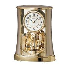 Seiko QXN227G Mantel Clock with Rotating Pendulum - Gold Finish