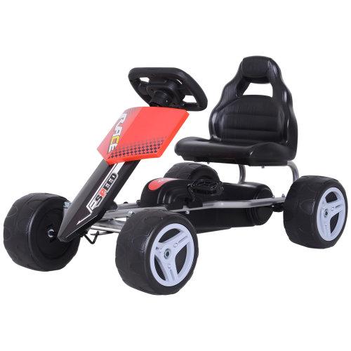 HOMCOM Pedal Go Kart Kids Ride-on Car Outdoor Racer Bike Toy Gift